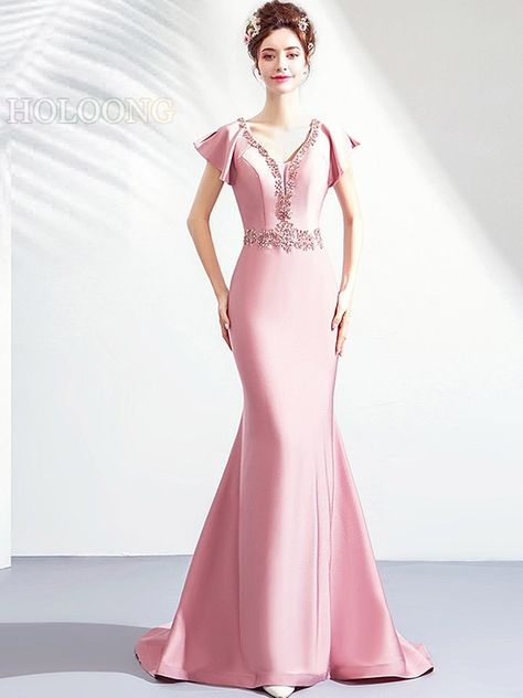 65a8c8e3f5f1 Ball gown Toast formal dress Bandage Long Bride Evening Dresses