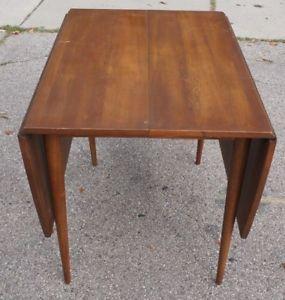 Vintage Broyhill Sculptra Drop Leaf Dining Table Mid Century