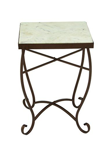 Deco 79 45691 Metal Marble Square Accent Table 16 Marble End Tables Square Side Table Square Marble Side Table