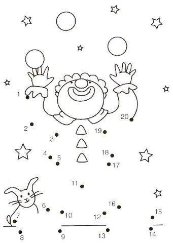 30 Dibujos Para Unir Puntos Del 1 10 Y 1 20 Alumno On Tema De Circo Preescolar Actividades De Matematicas Preescolares Circo Preescolar