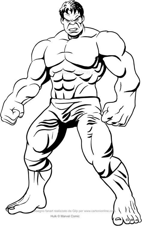 Desenho De Hulk Frontal Para Colorir Desenhos Para Colorir