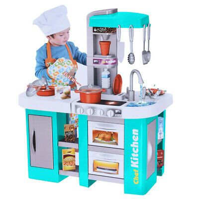 Kitchen Play Set Pretend Baker Kids Toy Cooking Playset Girls Food Little Bakers In 2020 Kids Pretend Play Toys Kids Toy Kitchen Pretend Play Toys