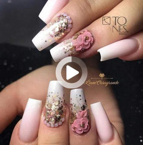 42 beautiful christmas acrylic coffin nails design ideas to warm your winter 14 | Bloghenni.online