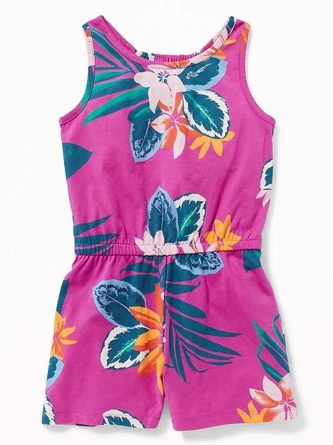 97b1c9609fc10 Old Navy Printed Jersey Racerback Romper for Girls   Products