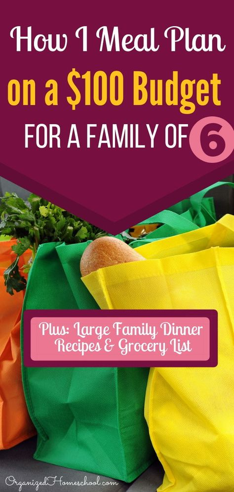 List of Pinterest meal plans on a budget for 6 family of 6