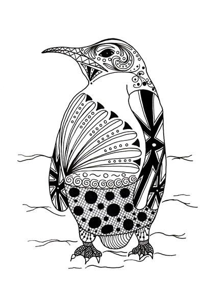 Free penguin coloring page from http://readerbee.com | Penguin ... | 568x400