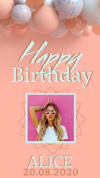 Create The Perfect Design By Customizing Easy To Use Templates In Minutes Easily Convert In 2021 Birthday Post Instagram Happy Birthday Posters Birthday Photo Collage