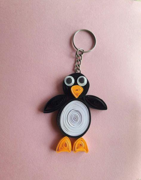 Quilling pingouin / #pingouin #Quilling