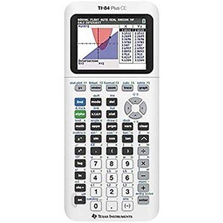 Texas Instruments Ti 84 Plus Ce Graphing Calculator White Walmart Com Graphing Calculator Calculator Color Graphing