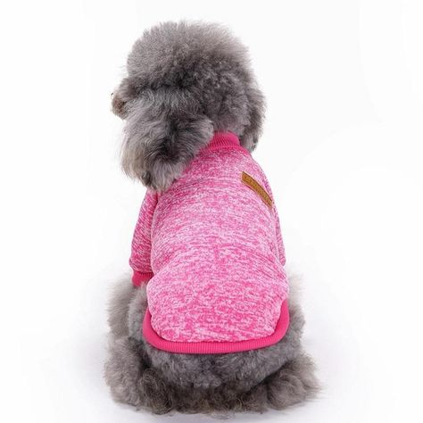 Sweater Soft Thickening Knitwear Dog Warm Pup Dogs Shirt Winter Puppy Sweater Pet Dog Clothes - Rose Red / XL