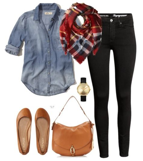 Kickin It Back to the with Retro Fashion Pieces 2019 Fall outfit idea Black denim chambray button down blanket scarf flats and a hobo handbag. The post Kickin It Back to the with Retro Fashion Pieces 2019 appeared first on Outfit Diy. September Outfits, Early Fall Outfits, Fall Winter Outfits, Autumn Winter Fashion, Christmas Outfits, Casual Winter, Winter Wear, Winter 2017, Christmas Sweaters