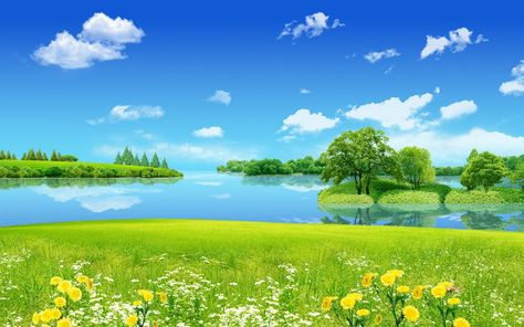 Background Pemandangan Alam Pemandangan Pemandangan Anime Gambar