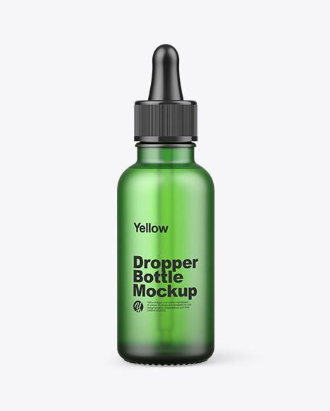 Frosted Green Glass Dropper Bottle Mockup In Bottle Mockups On Yellow Images Object Mockups In 2021 Glass Dropper Bottles Bottle Mockup Dropper Bottles