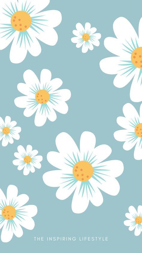 Cutest Flowers Wallpaper in Blue