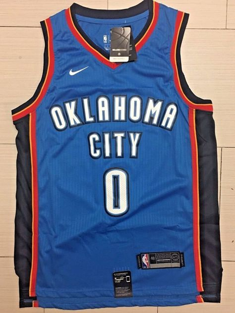 Men 0 Russell Westbrook Jersey Blue Oklahoma City Thunder