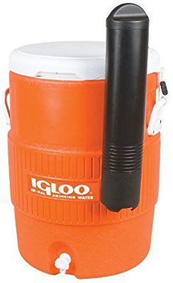 Amazon Com Igloo 10 Gallon Seat Top Beverage Dispenser With Spigot And Cup Dispenser Coolers Sports Outdoors Drink Dispenser Orange Seating Igloo