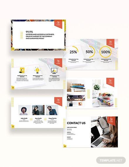 Art Director Presentation Template Illustrator Powerpoint Apple Keynote Google Slides Leaflet Template Pamphlet Template Rack Card Templates