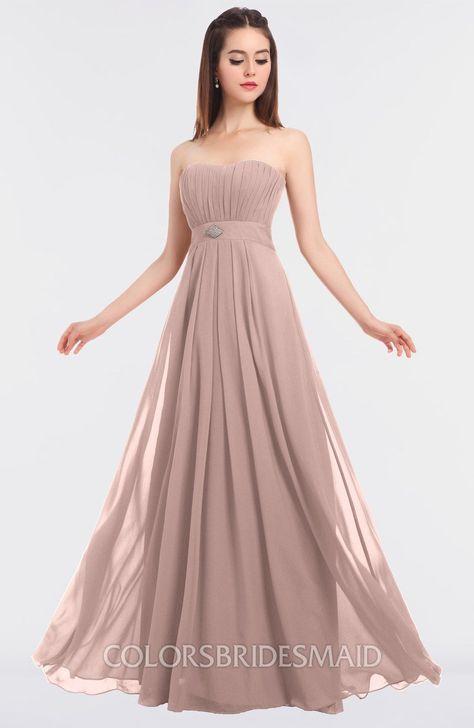 .ColsBM Claire Elegant A-line Strapless Sleeveless Appliques Bridesmaid Dresses #colsbm #bridesmaids #bridesmaiddress #weddings