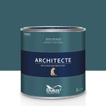 Peinture Bleu Pétrole Mat Dulux Valentine Architecte 2 L