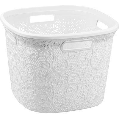 Rebrilliant Square Cornered Laundry Basket Wayfair Basket