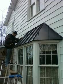 Image Result For House With Red Roof And Black Over Bay Window Metal