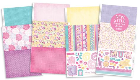 Free patterned papers & greetings for handmade Mother's Day cards –just download and print out!