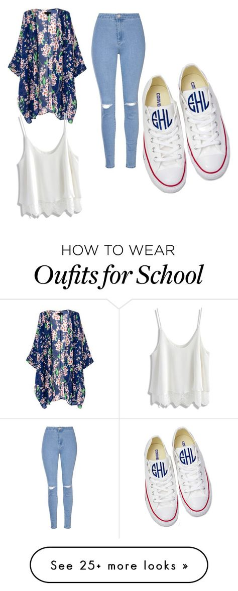 """""""high school"""" by christynstuff on Polyvore featuring Glamorous, Chicwish and Converse"""
