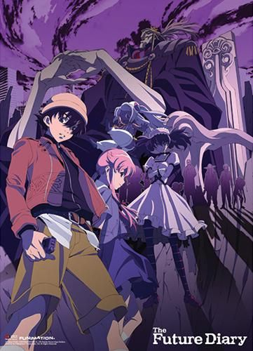 Future Diary - Group Purple Background Fabric Poster [PreOrders SoldOUT]