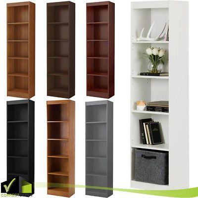 It Features 5 Open Practical And Accessible Storage Spaces Separated By 2 Fixed And 3 Adjustable Shelves That Can Su Wooden Bookcase Shelves Bookcase Shelves