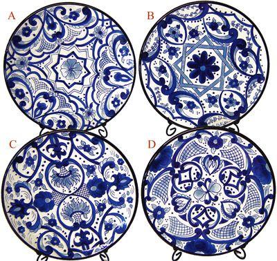 sc 1 st  Pinterest & Indigo Kashmir Plate   White porcelain Tableware and Porcelain