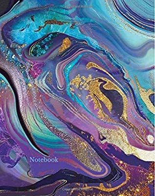 Notebook Purple Turquoise Marble Agate Swirls Notebook Notebooks