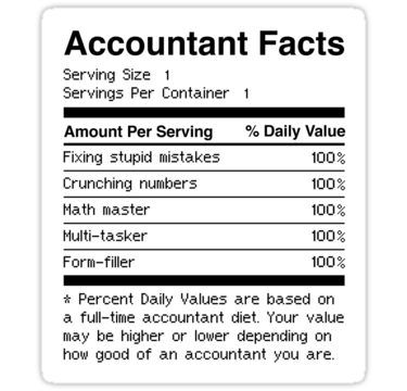 Accountant Facts Funny Accounting Sticker Funny Accounting Quotes Accounting Humor Accounting Quotes Inspiration