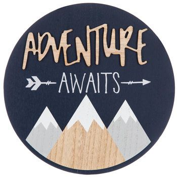 Adventure Awaits Round Wood Wall Decor Adventure Awaits Nursery Boys Wall Decor Adventure Nursery