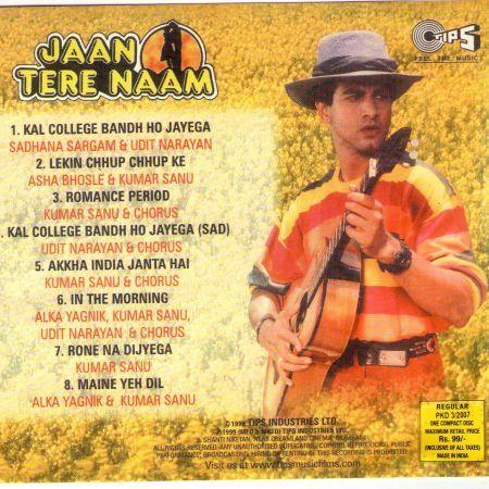 Jaan Tere Naam 1992 Mp3 Vbr 320kbps Kumar Sanu Udit Narayan Songs