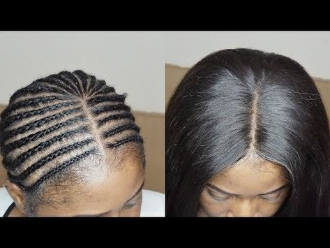 How To Invisible Part Sew In For Beginners Step By Step Youtube Sew In Braids Diy Hairstyles Braids With Weave