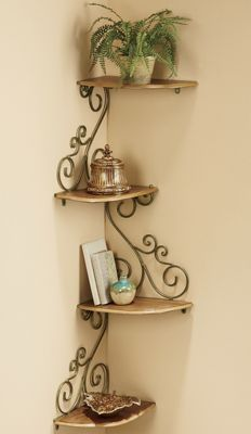 Scrolled Corner Shelf 60 This Is It Copper Bracketswrought Iron
