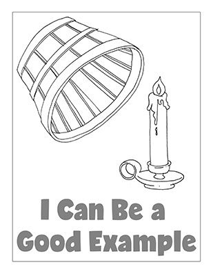 Primary 2 Ctr A Manual I Can Be A Good Example Coloring Page