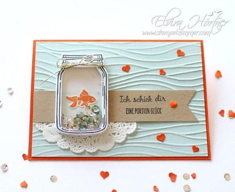 Goldfisch im Glas - Eine Portion Glück