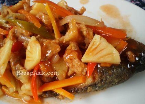 Cara Membuat Gurame Asam Manis Dan Resep Gurame Goreng Tepung Asam Manis Lengkap Olahan Ikan Gurameh Masak Saus Asam Manis Dan M Saus Ikan Masakan Asia Masakan