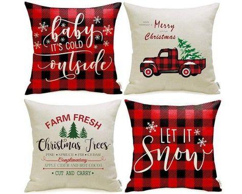 Christmas Pillow Cover Fresh Cut