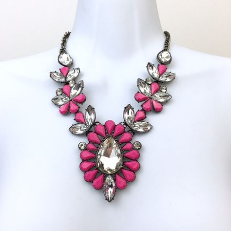 Pink Statement Necklace Pink Statement Necklace #statement #new #statement Jewelry Necklaces