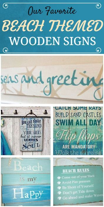 Check Out Our Favorite Beach Themed Wooden Signs At Beachfront