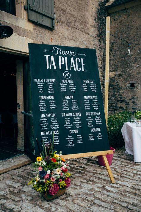 Une chouette idée de plan de table. Simple et efficace