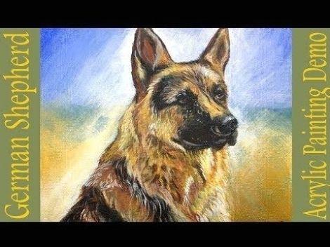 Photo Poster Gift Animal Dog Lovers Canine German Shepherd Art Print /'Hope/'