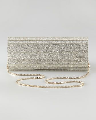 25d223464d4 Jimmy Choo Sweetie Glittery Clutch Bag, Champagne on shopstyle.com |  Vintage-Style Gatsby and Old Hollywood Wedding | Bags, Clutch bag, Jimmy  choo