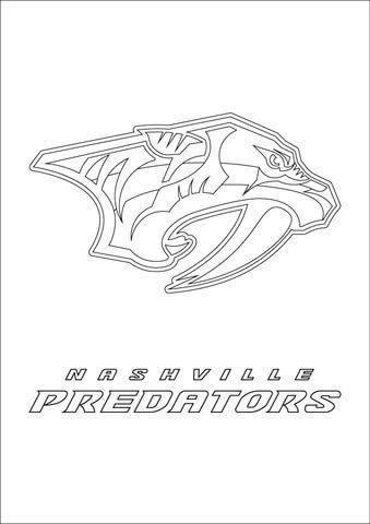 Nashville Predators Logo Coloring Page Predator Nashville