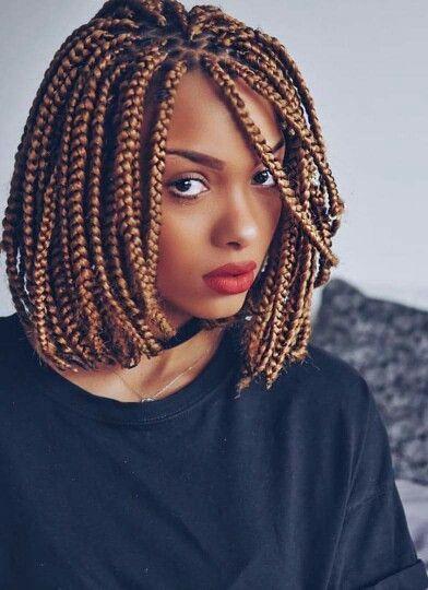 Pixie Bob Braids For Black Women Black Bob Braids Pixie Women Short Box Braids Short Box Braids Hairstyles Bob Braids Hairstyles