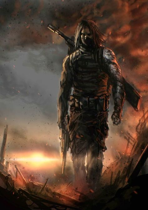 Cool Winter Soldier Art By: Billy Christian Mais