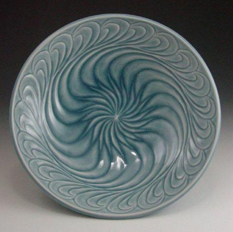 aquabowl anne ginkel carved pottery ceramics clay