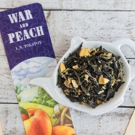 Bookish Tea Tin • War and Peach